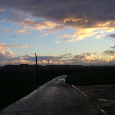 sur la route de l'école