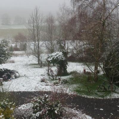L'Angevinière sous la neige !