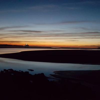 Crépuscule sur la Baie du Mont Saint-Michel